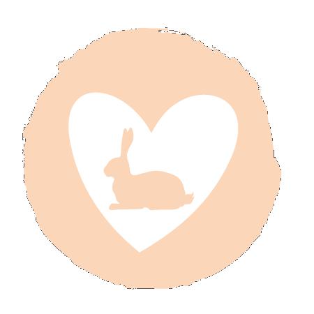 Herz Symbol mit einem Hasen in der Mitte